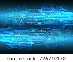 binary circuit board future... | Shutterstock .eps vector #726710170