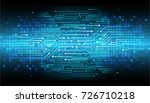 binary circuit board future... | Shutterstock .eps vector #726710218
