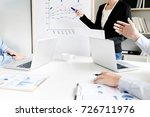 business executives... | Shutterstock . vector #726711976