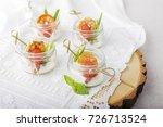 catering.glasses with shrimp... | Shutterstock . vector #726713524