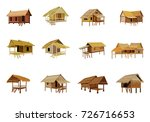 roof straw hut vector design | Shutterstock .eps vector #726716653
