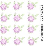 roses seamless patters... | Shutterstock .eps vector #726717628