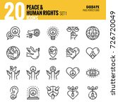 peace and human rights icon set....   Shutterstock .eps vector #726720049