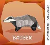 origami grey badger | Shutterstock .eps vector #726720184