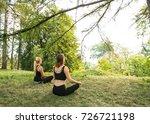 sport women doing yoga outside... | Shutterstock . vector #726721198
