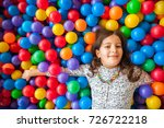 girl playing and having a good... | Shutterstock . vector #726722218