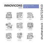 blog   modern vector line... | Shutterstock .eps vector #726722410