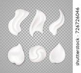 white cream elements. 3d...   Shutterstock . vector #726726046