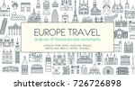 travel and tourism background.... | Shutterstock .eps vector #726726898