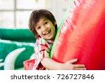 happy kids at indoor playground | Shutterstock . vector #726727846