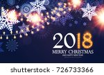 happy new 2018 year poster and... | Shutterstock .eps vector #726733366