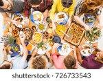 vegetarian diet  healthy food... | Shutterstock . vector #726733543