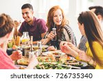 group of mixed race people... | Shutterstock . vector #726735340