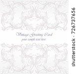 invitation card vector. royal... | Shutterstock .eps vector #726737656