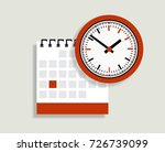 vector calendar and clock icon. ... | Shutterstock .eps vector #726739099