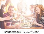 happy couple eating healthy...   Shutterstock . vector #726740254