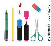 set of office suplies  vector...   Shutterstock .eps vector #726741340