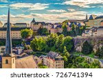 panoramic aerial view of... | Shutterstock . vector #726741394