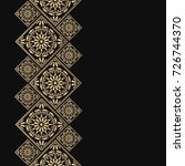 golden frame in oriental style. ... | Shutterstock .eps vector #726744370