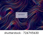 abstract background with curled ...