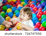 boys playing at ball room | Shutterstock . vector #726747550