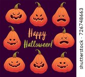 halloween vector illustration.... | Shutterstock .eps vector #726748663