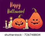 halloween vector illustration.... | Shutterstock .eps vector #726748834