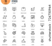 simple set of fitness related... | Shutterstock .eps vector #726750964