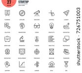 simple set of startup related... | Shutterstock .eps vector #726751003