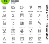simple set of education related ... | Shutterstock .eps vector #726751006