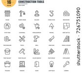 simple set of construction... | Shutterstock .eps vector #726751090