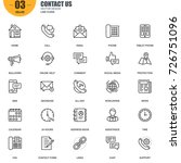 simple set of contact us... | Shutterstock .eps vector #726751096