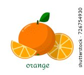 orange icon in flat style.... | Shutterstock .eps vector #726754930