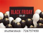 black friday sale website...   Shutterstock .eps vector #726757450