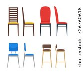 colorful chairs icon set. home... | Shutterstock .eps vector #726760618