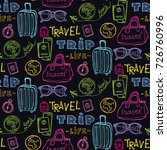 hand drawn doodle travel... | Shutterstock .eps vector #726760996