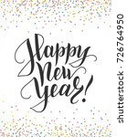 happy new year card with hand... | Shutterstock .eps vector #726764950