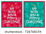 we wish you a merry christmas ... | Shutterstock .eps vector #726768154