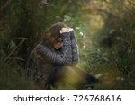 head on hands  beautiful... | Shutterstock . vector #726768616