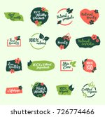 set of green bio  natural ... | Shutterstock .eps vector #726774466