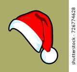 santa's cap | Shutterstock .eps vector #726774628