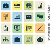 business icons set. collection... | Shutterstock .eps vector #726775384