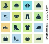 clothes icons set. collection... | Shutterstock .eps vector #726775594