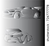sport car in fog vector | Shutterstock .eps vector #726777778