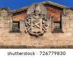 Detail of sculptural design of...