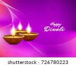 abstract happy diwali vector... | Shutterstock .eps vector #726780223