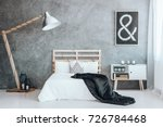 small decorative cushion with... | Shutterstock . vector #726784468