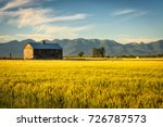 summer sunset with an old barn... | Shutterstock . vector #726787573
