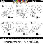 black and white cartoon vector... | Shutterstock .eps vector #726788938