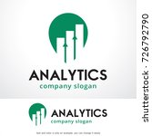 analytics logo template design... | Shutterstock .eps vector #726792790